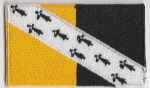 Norfolk Embroidered Flag Patch, style 04